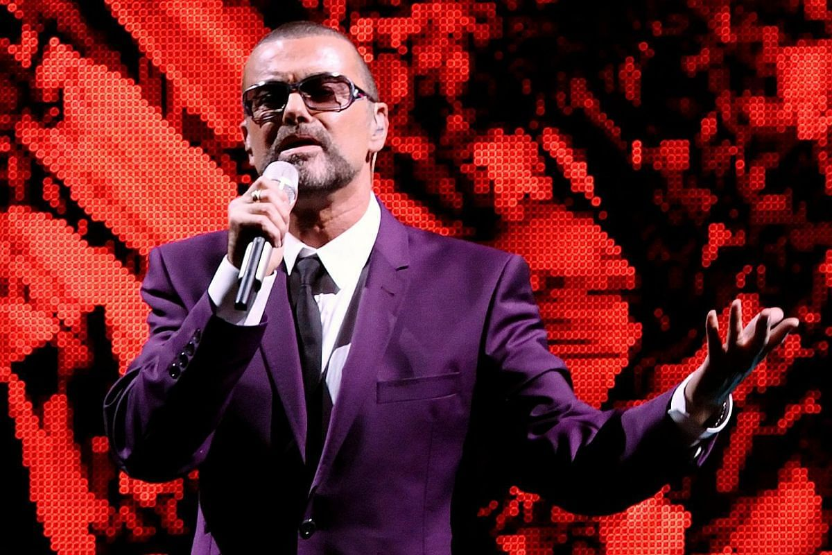 British singer George Michael performs on stage during his Symphonica tour concert in Vienna on Sept 4, 2012.