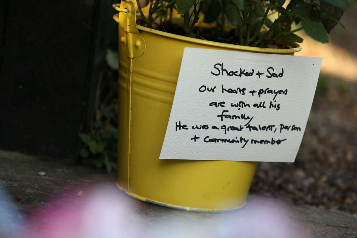 A message of condolence outside the north London home of British singer George Michael on Dec 26, 2016.
