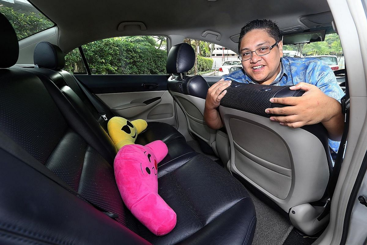 Youth coach Syed Muhammad Abu Bakar gave strangers lifts in his car before he became a part-time Uber driver. Taxi driver Ong Swee Ker supplies his passengers with biscuits, lozenges, bottled water, medicated oil and umbrellas, among other things.