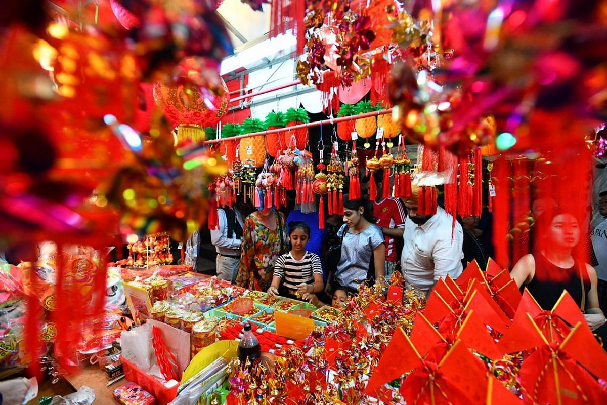 The Festive Street Bazaar and Carnival as part of Chinatown Chinese New Year Celebrations 2017 on Jan 7, 2017.