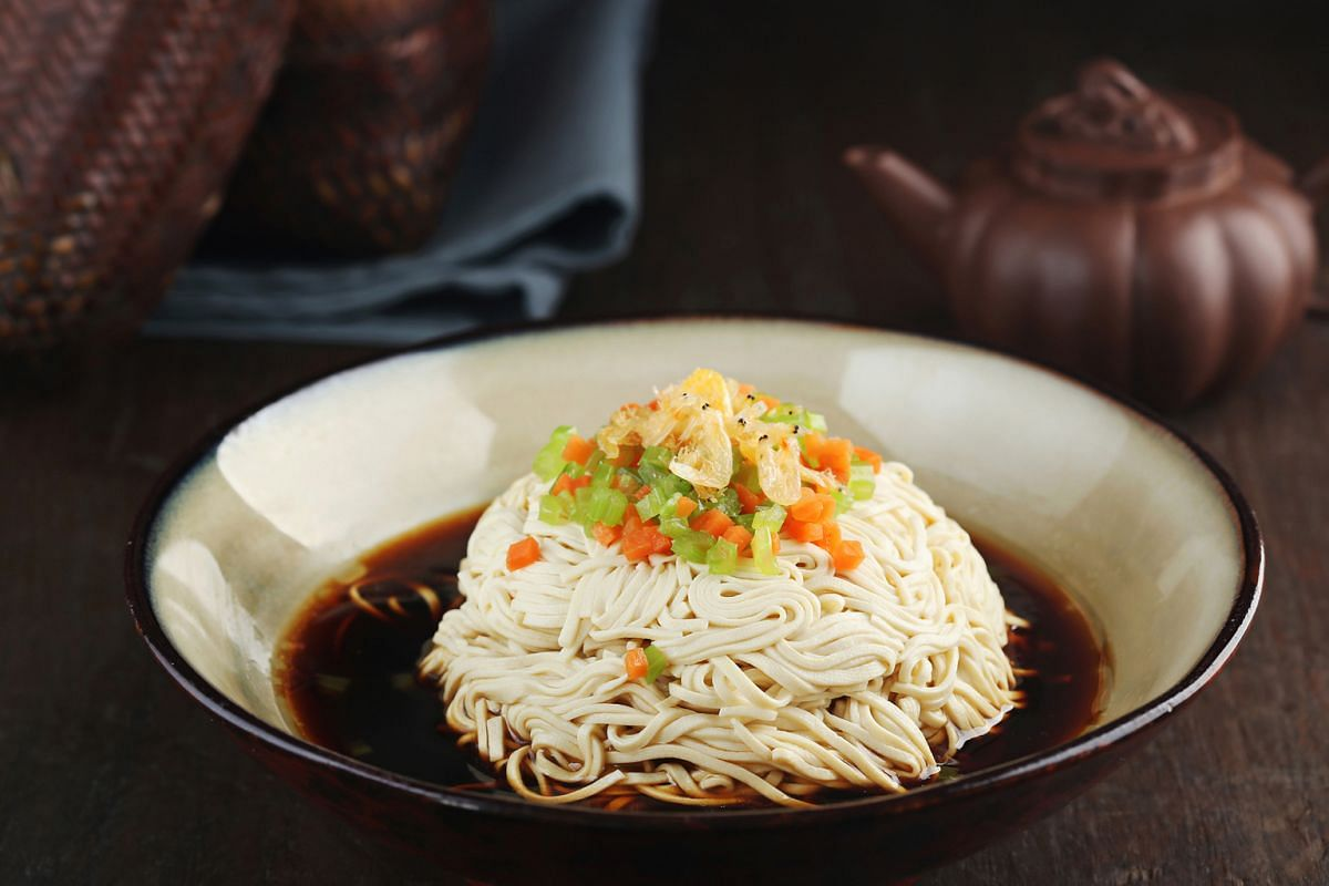 Go for the Honey Glazed Stuffed Lotus Root and Sesame-scented Beancurd Julienne (above).