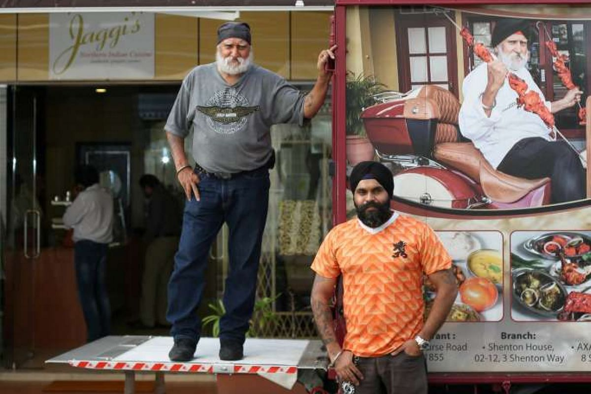 Jaggi's owner Gurcharan Singh with his son Jagwinder Singh Nerwal, who helps run the family business.