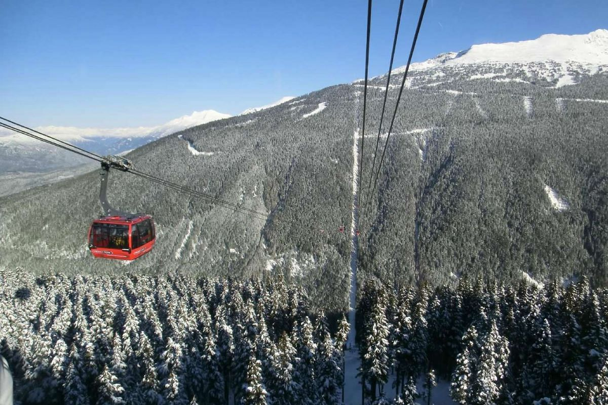 Canada's natural landmarks include the resort town of Whistler in British Columbia.