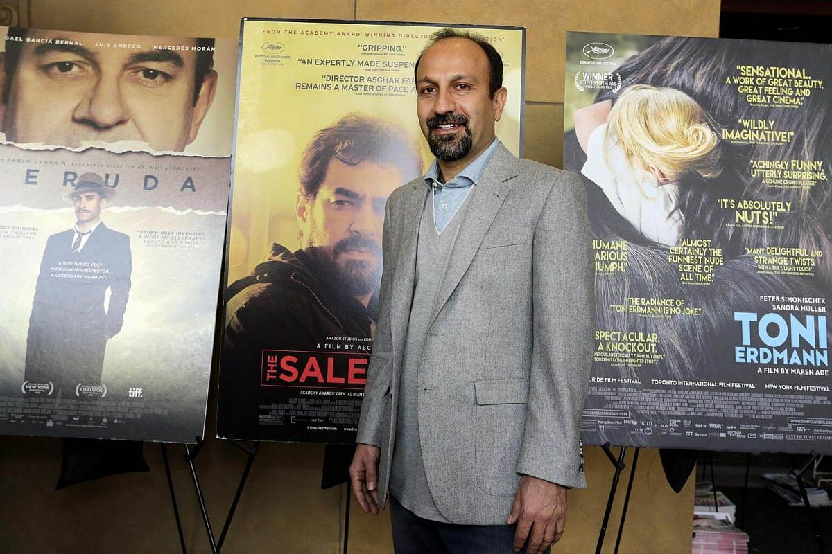 Iranian director Asghar Farhadi arrives for the Golden Globes Foreign Language Nominees Symposium in the forecourt of the Egyptian Theatre in Hollywood, California, US, on Jan 7, 2017.