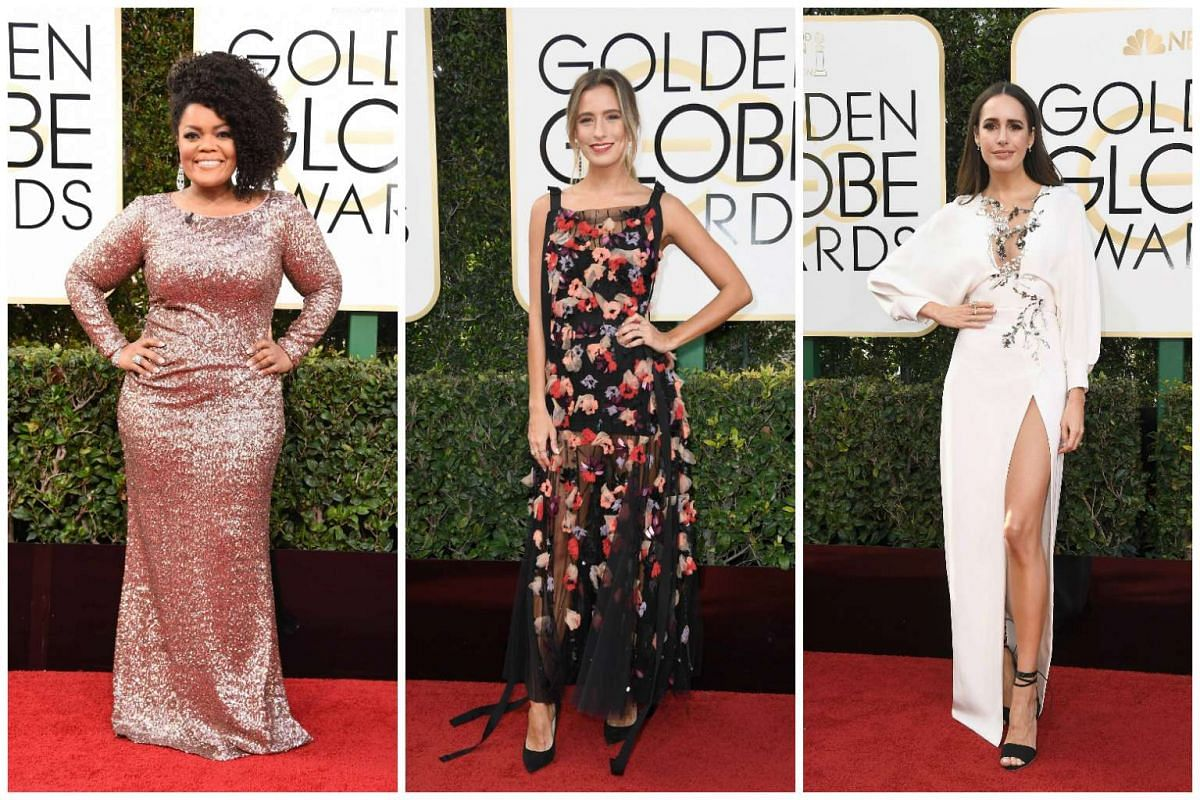 (From left) Yvette Nicole Brown, Renee Bargh and Louise Roe.