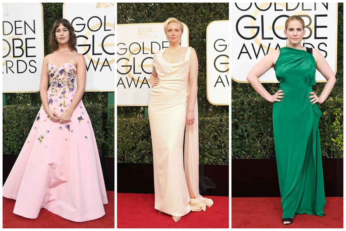 (From left) Lola Kirke, Gwendoline Christie and  Anna Chlumsky.