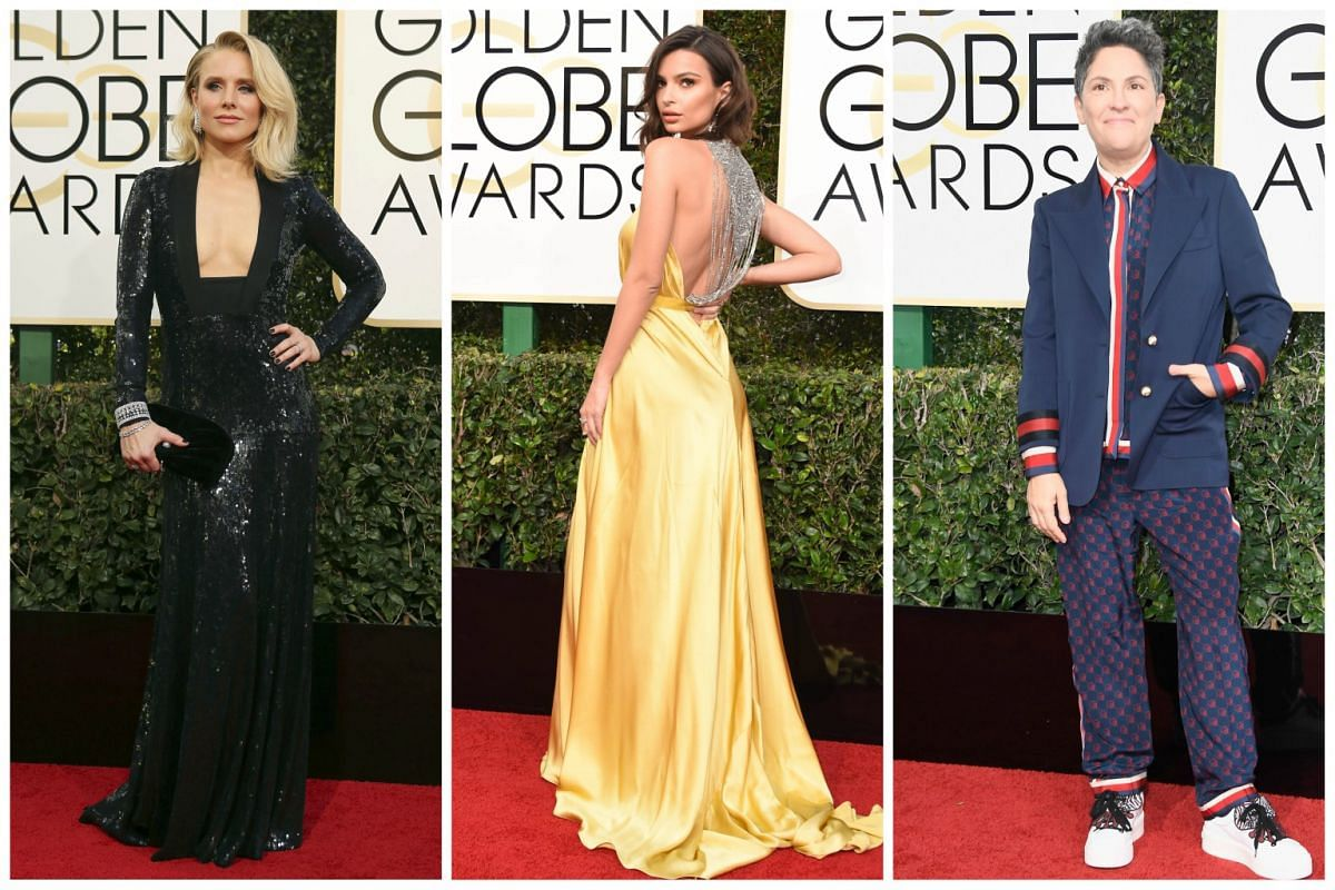 (From left) Kristen Bell, Emily Ratajkowski and Jill Soloway.