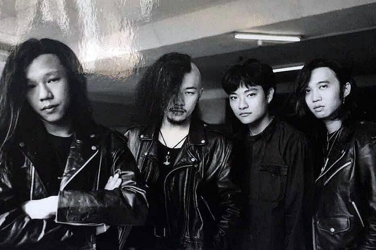 My life so far: (From far left) Danny Lim with fellow members of the Opposition Party band - Kazuo, Ray Aziz and Francis Frightful - in 1994.