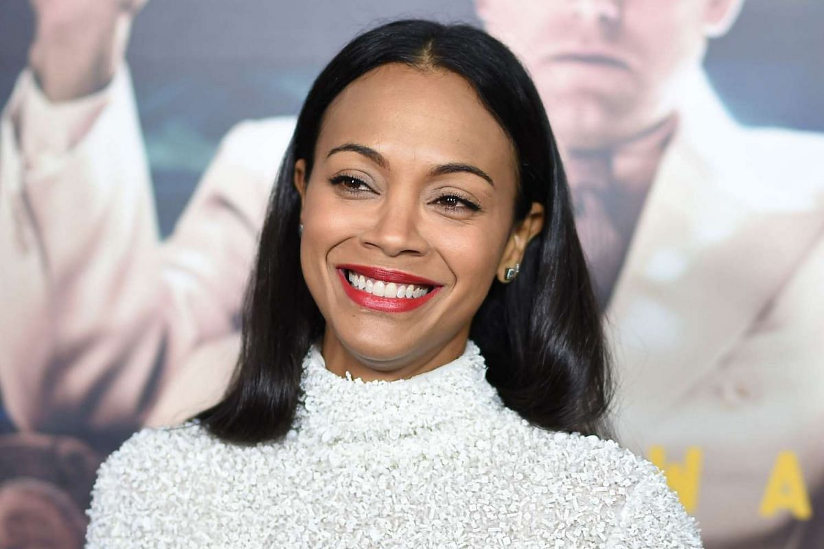 Actress Zoe Saldana at the world premiere of Live By Night in Hollywood, California, on Jan 9, 2017.