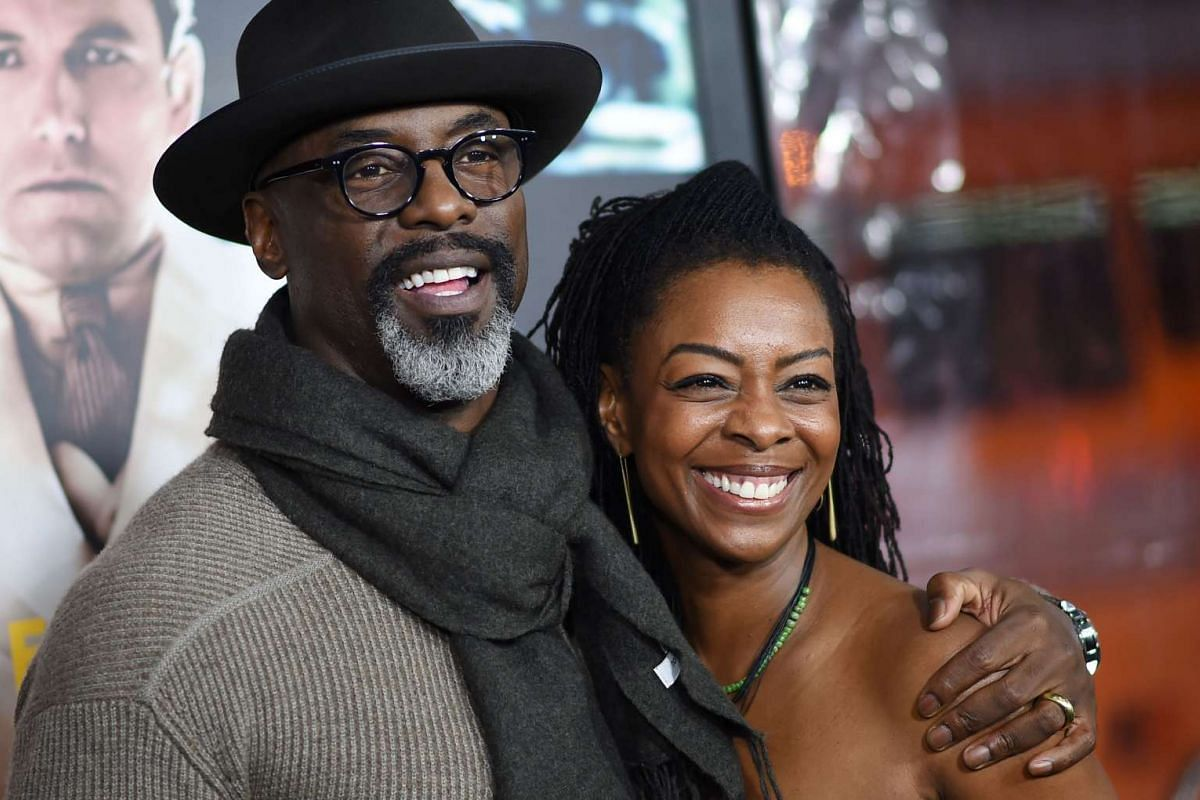 Actor Isaiah Washington with his wife Jenisa Garland at the world premiere of Live By Night in Hollywood, California, on Jan 9, 2017.
