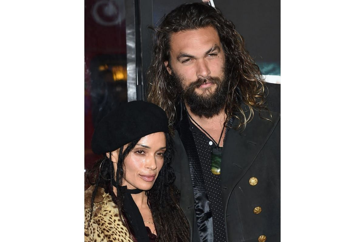Aquaman actor Jason Momoa and his wife Lisa Bonet at the world premiere of Live By Night in Hollywood, California, on Jan 9, 2017.