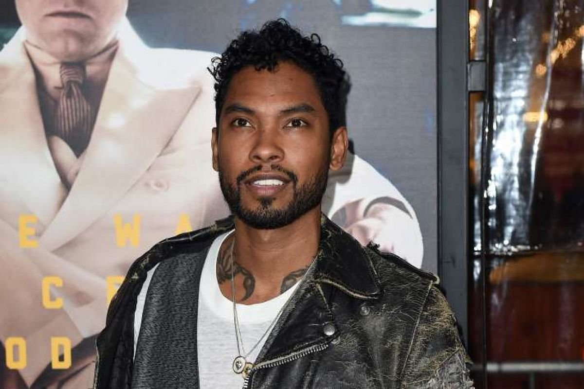 Recording artist Miguel at the world premiere of Live By Night in Hollywood, California, on Jan 9, 2017.