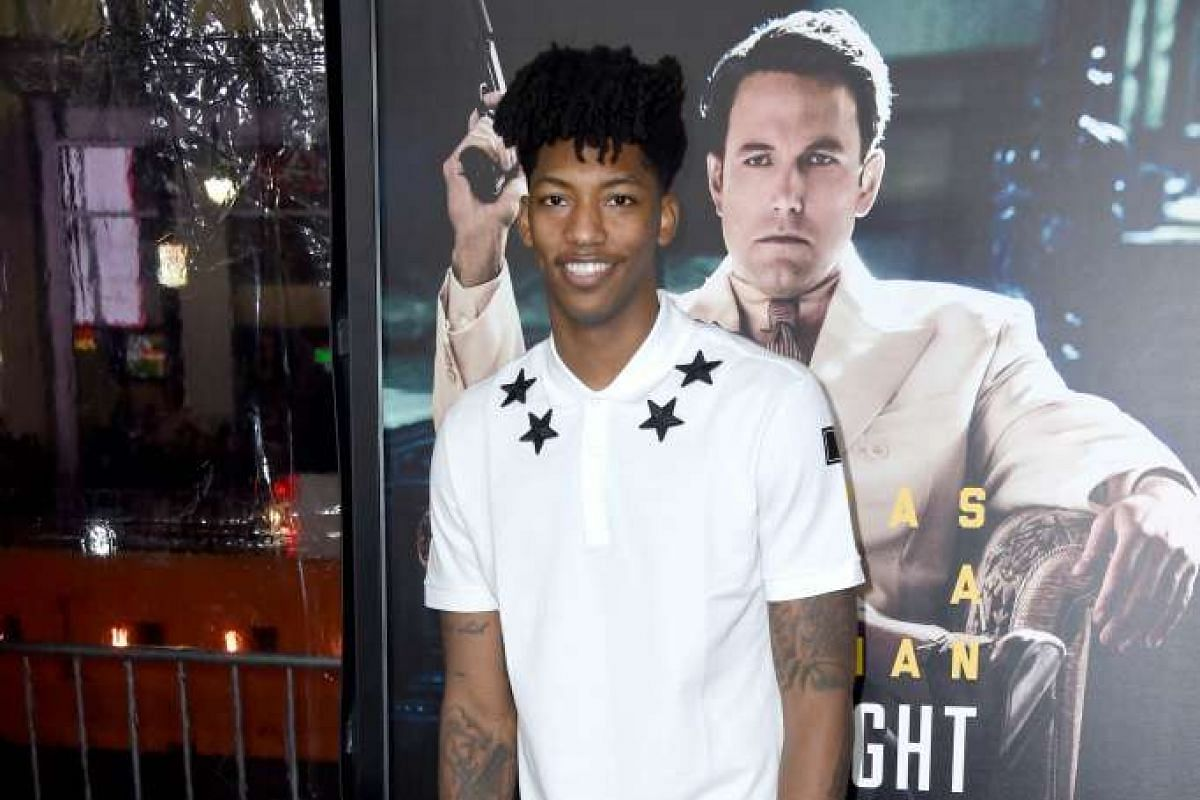 National Basketball Association (NBA) player Elfrid Payton at the world premiere of Live By Night in Hollywood, California, on Jan 9, 2017.
