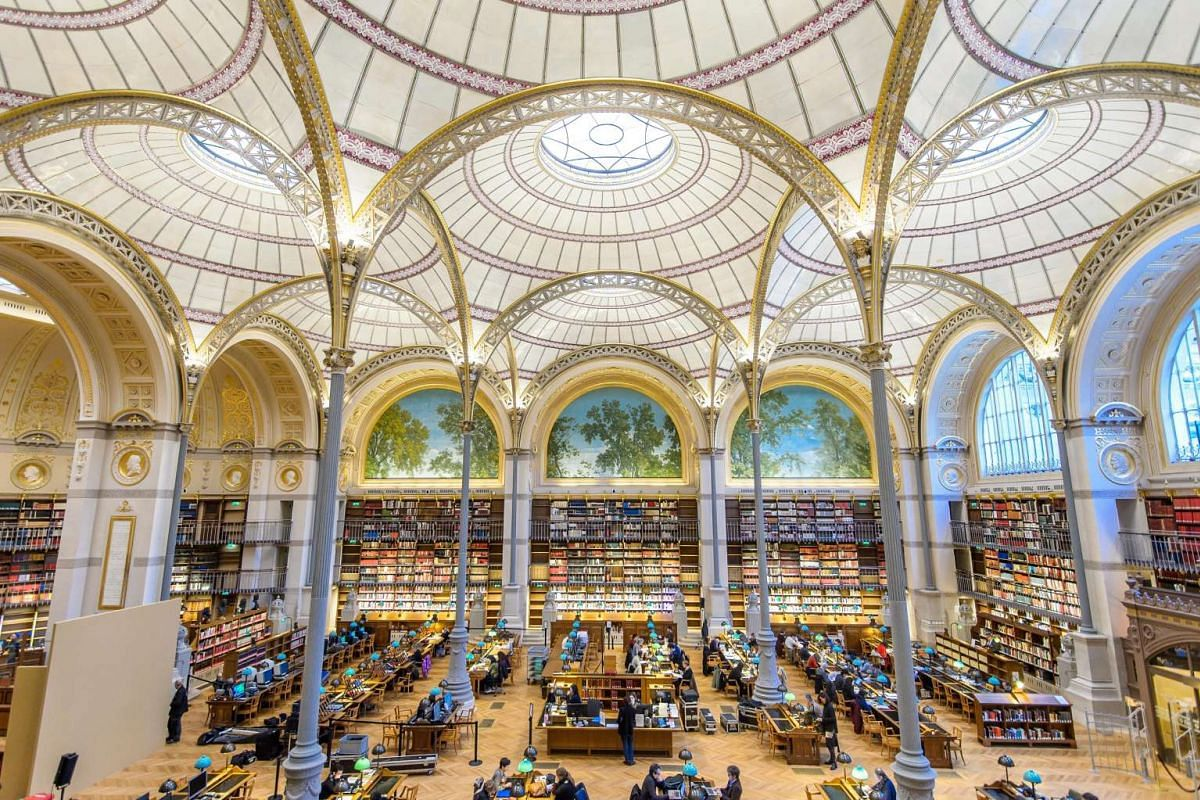General view of the Labrouste room at the National Richelieu Library in Paris, France, January 10, 2017. The Labrouste room reopened to the public after years of renovation. PHOTO: EPA