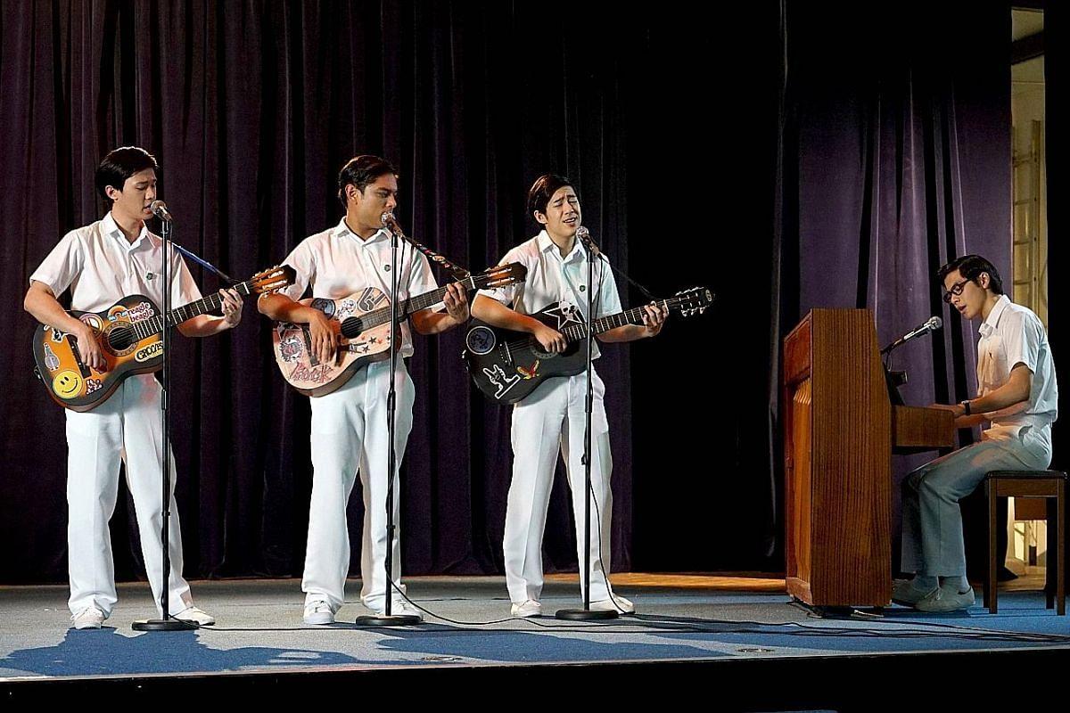 (From left) Chen Yixi, Zachary Ibrahim, Ryan Ang and Benjamin Kheng star in Wonder Boy.