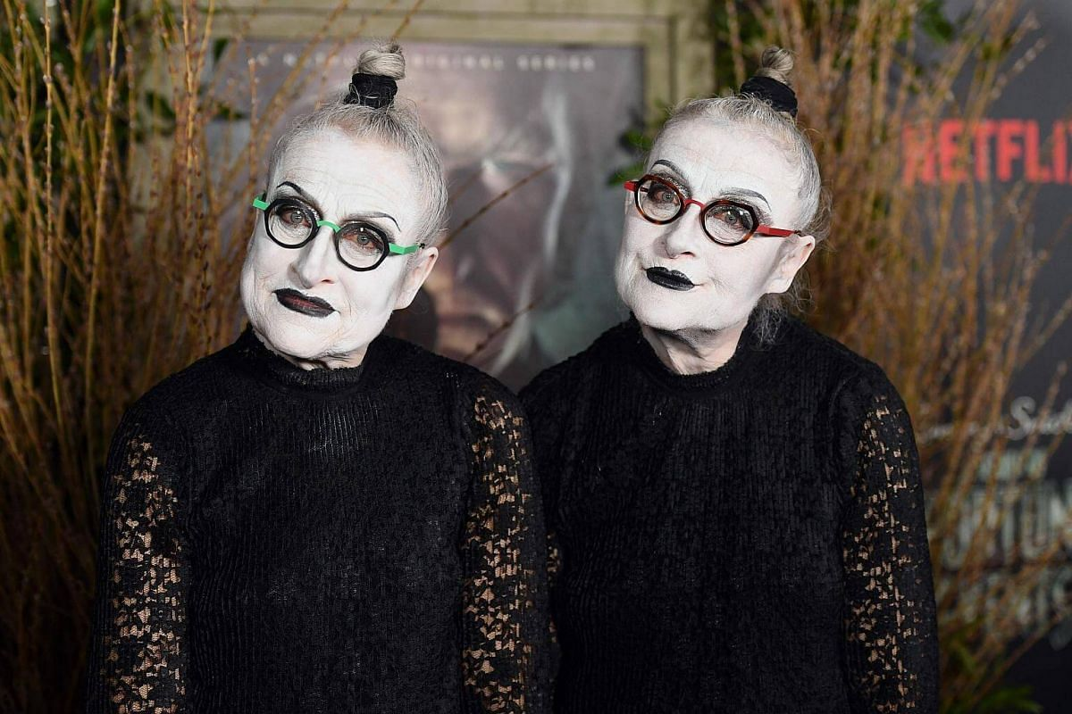Actresses Jacqueline Robbins and Joyce Robbins attend the premiere of Netflix's A Series Of Unfortunate Events at AMC Lincoln Square Theater on Jan 11, 2017, in New York.