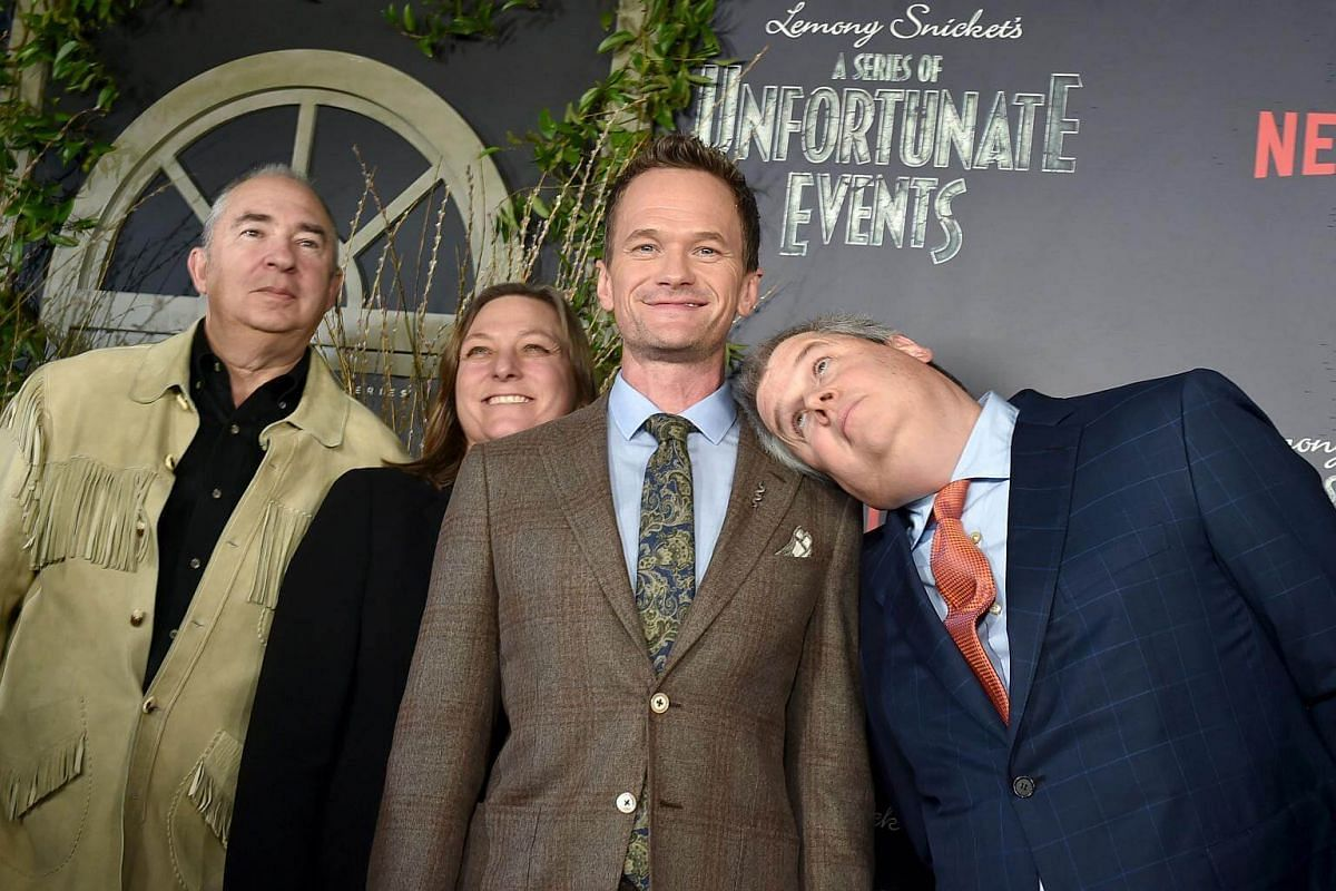 Director Barry Sonnenfeld, Netflix executive Cindy Holland, Ted Sarandos and author Daniel Handler attend the Lemony Snicket's A Series Of Unfortunate Events Screening at AMC Lincoln Square Theater on Jan 11, 2017, in New York City.