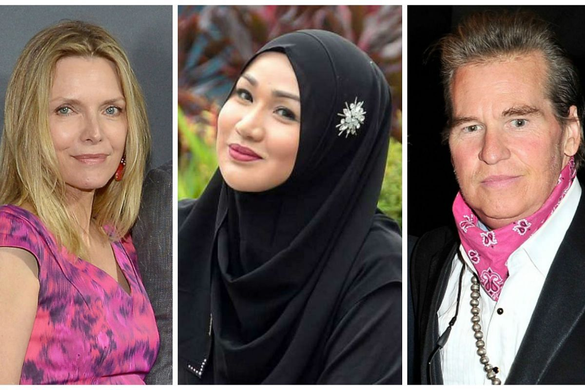 From left: Michelle Pfeiffer, Lynne Nasir and Val Kilmer.