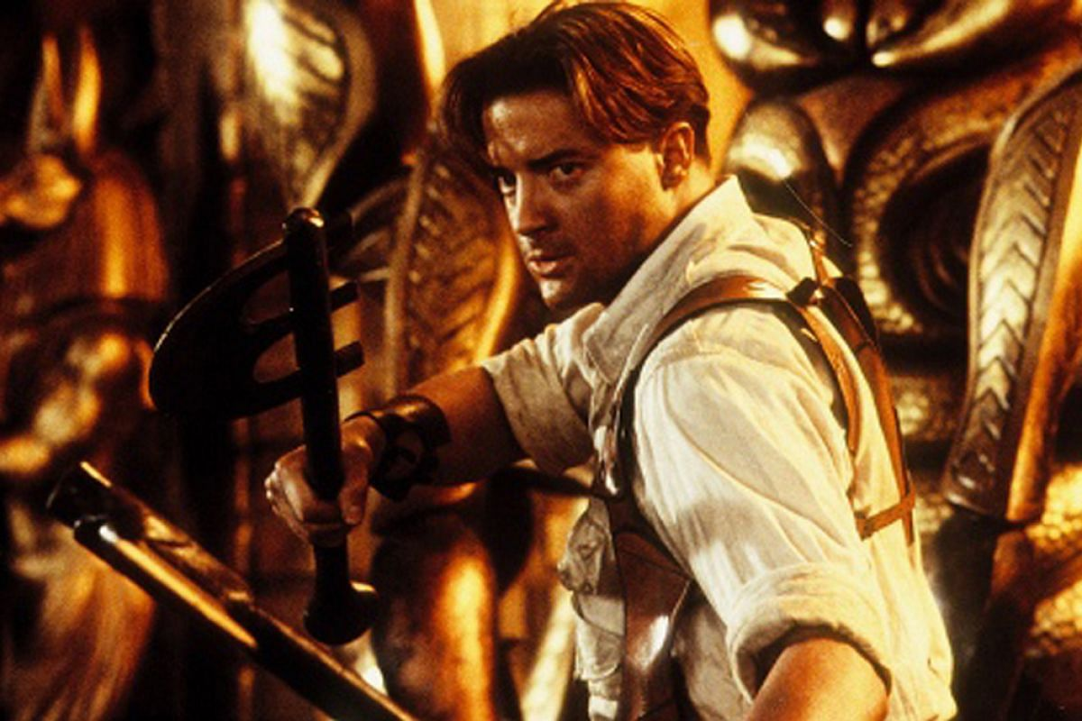 Brendan Fraser in The Mummy trilogy.
