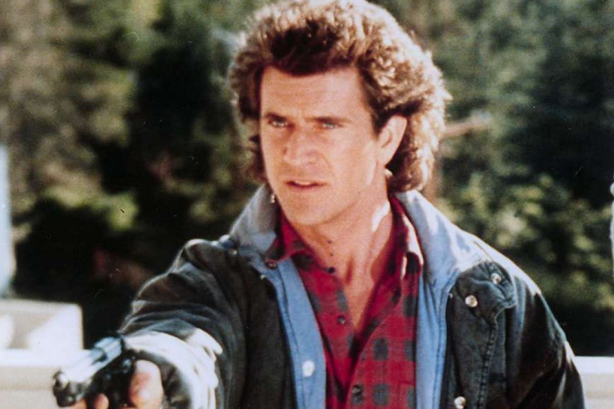 Mel Gibson in Lethal Weapon.