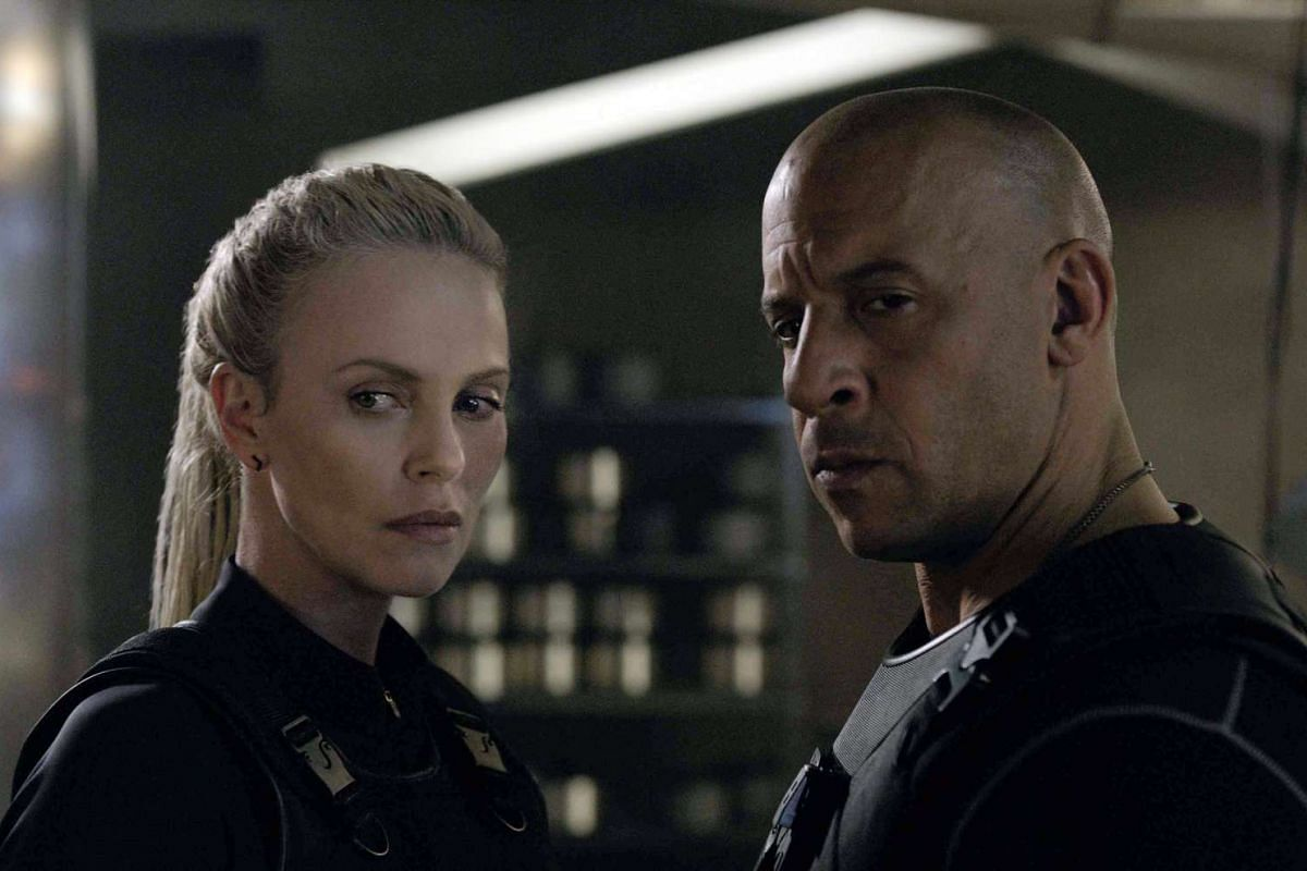 Charlize Theron and Vin Diesel in the eighth instalment of the Fast & Furious movie series.