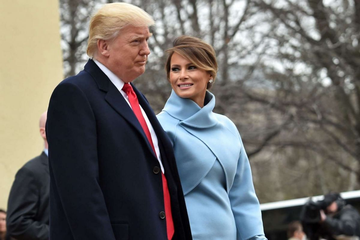 US President-elect Donald Trump and his wife Melania leave St. John's Episcopal Church on Jan 20, 2017.