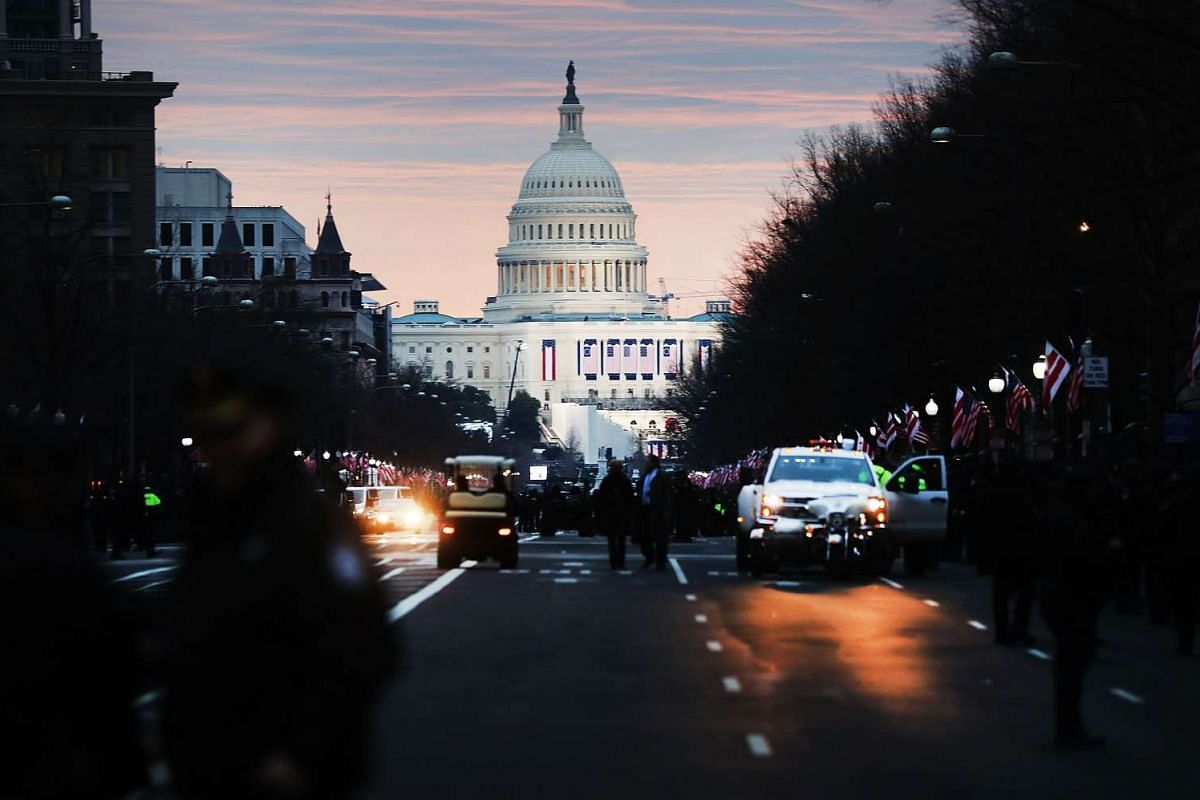 The United States Capital building stands in the morning light on he morning of the inauguration on Jan 20, 2017 in Washington, DC.
