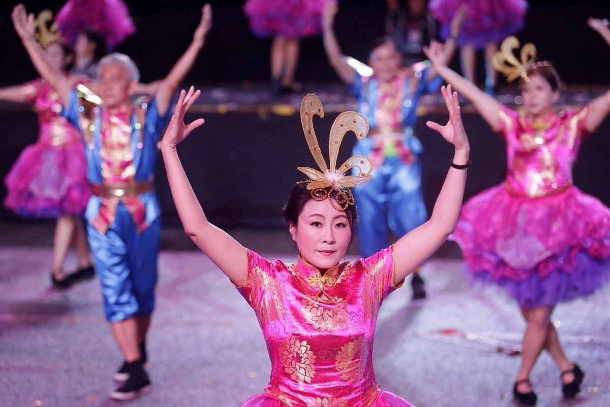 This year's parade, its 45th, features 8,000 performers in seven segments that look at Chingay in the past, present and future.