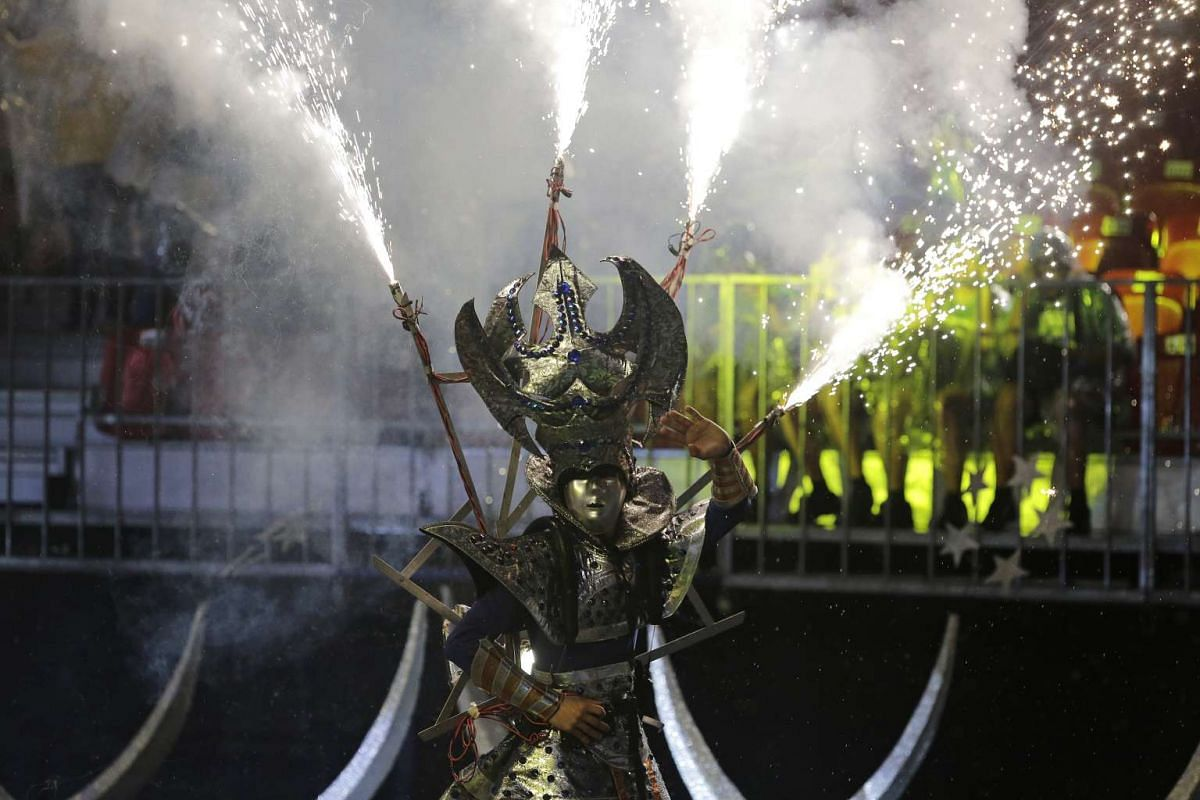 Some 10,000 students from 60 primary and secondary schools were treated to the show which featured local segments of the parade that will take place on Feb 10 and 11.