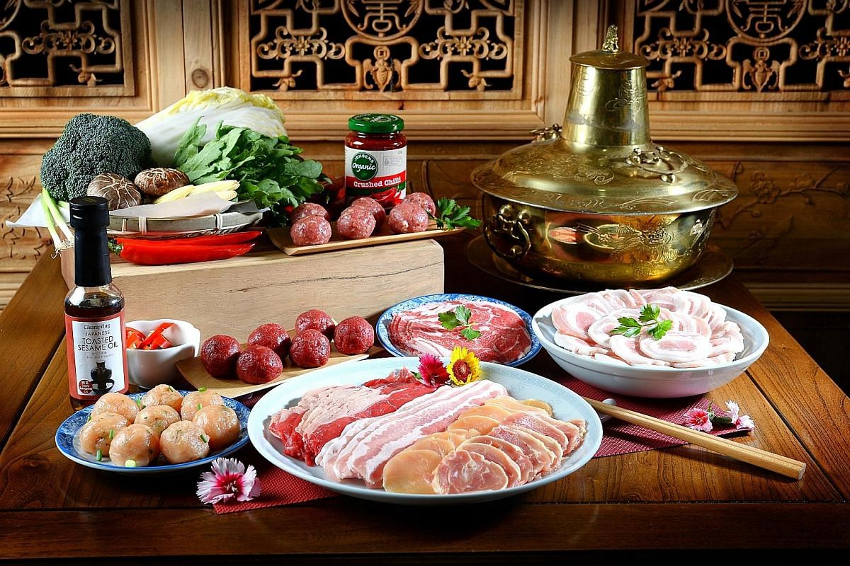 Ryan's Grocery offers premium Australian meats in its shabu shabu sets. Dish The Fish's pen cai package (above).