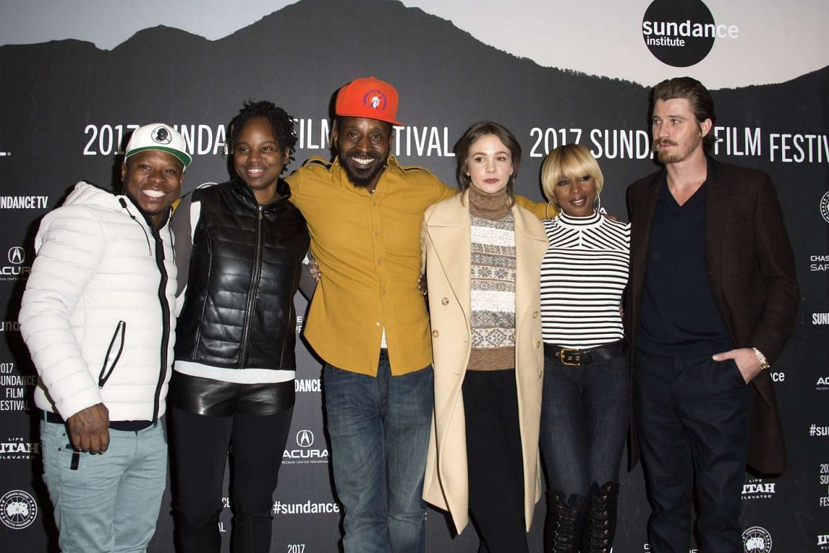 (From left) Jason Mitchell, Dee Rees, Rob Morgan, Carey Mulligan, Mary J. Blige and Garrett Hedlund attend the Mudbound premiere at Eccles Center Theatre during the 2017 Sundance Film Festival in Park City, Utah, on Jan 21, 2017.