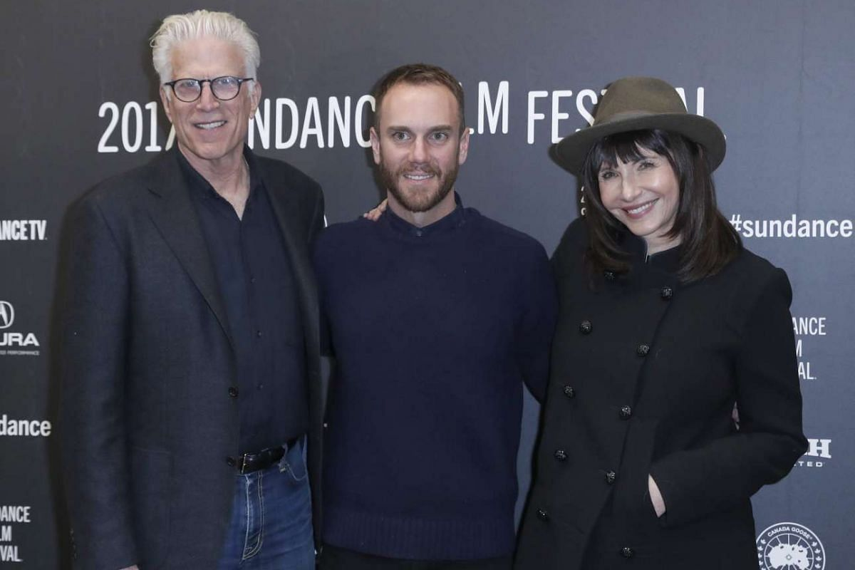 (From left) Actor Ted Danson, director Charlie McDowell and actress Mary Steenburgen arrive for the premiere of The Discovery at the 2017 Sundance Film Festival in Park City, Utah, on Jan 20, 2017.