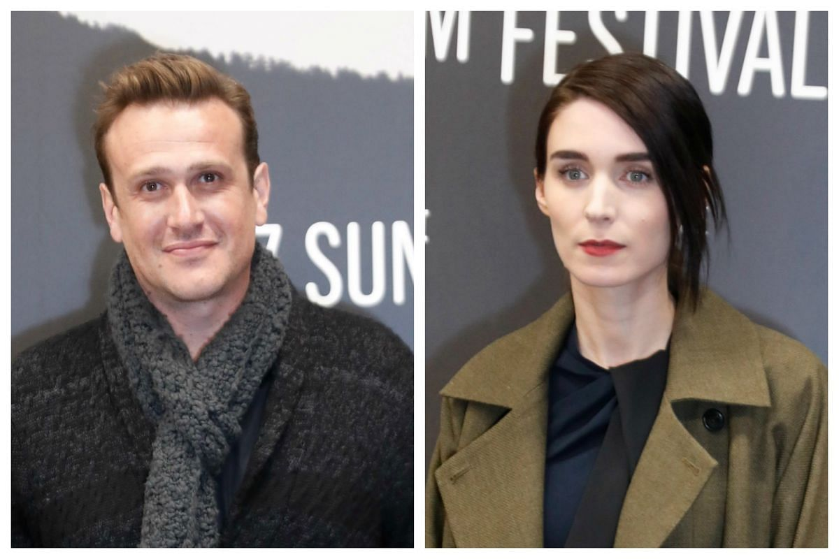 Actor Jason Segel and actress Rooney Mara arrive for the premiere of the The Discovery at the 2017 Sundance Film Festival in Park City, Utah, on Jan 20, 2017.