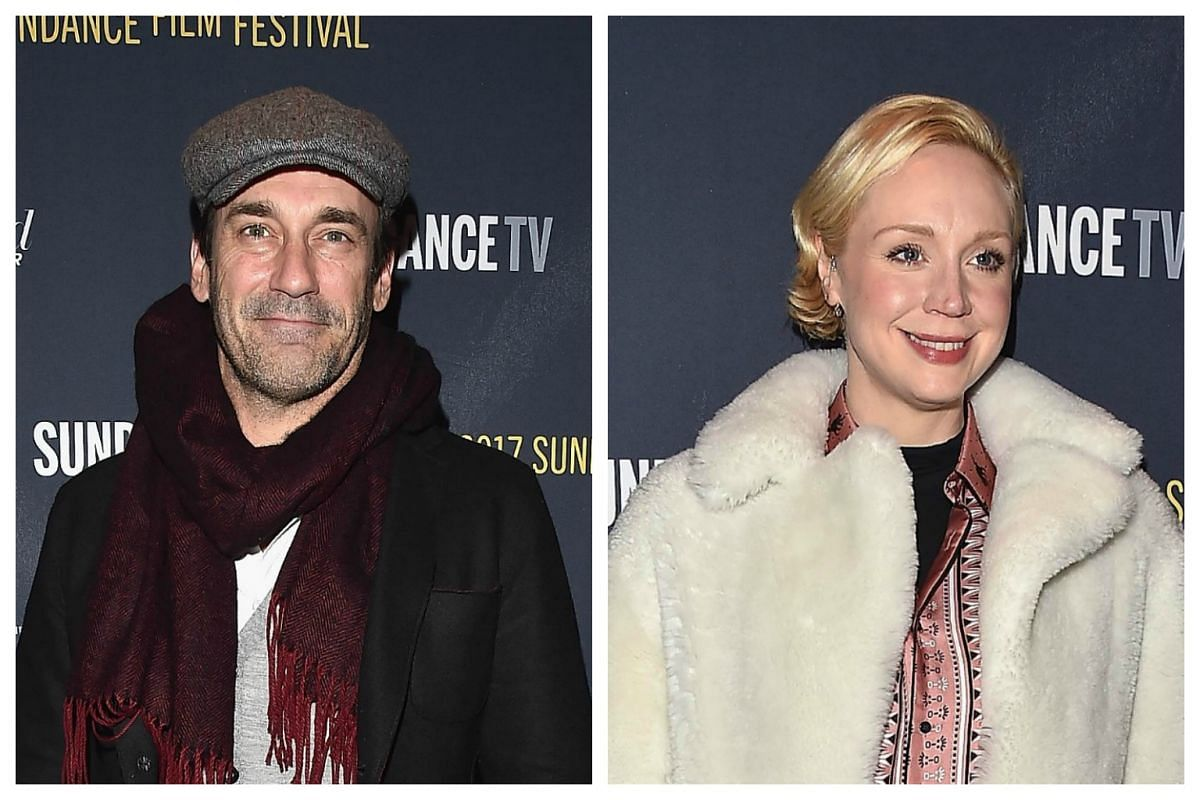 Actor Jon Hamm and actress Gwendoline Christie attend The Hollywood Reporter and Sundance TV 2017 Sundance Film Festival Official Kickoff Party on Jan 20, 2017.