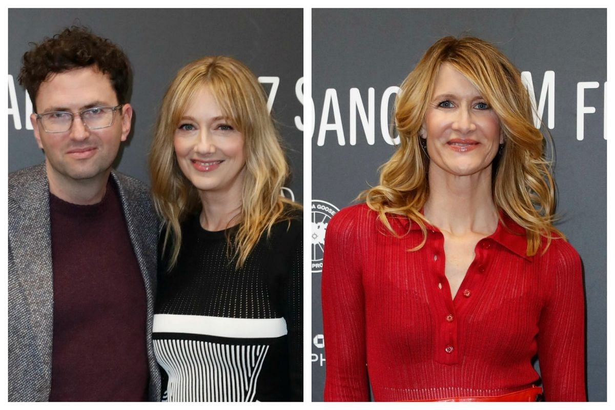 (From left) Director Craig Johnson and actresses Judy Greer and Laura Dern arrive for the premiere of Wilson at the 2017 Sundance Film Festival in Park City, Utah, on Jan 22, 2017.