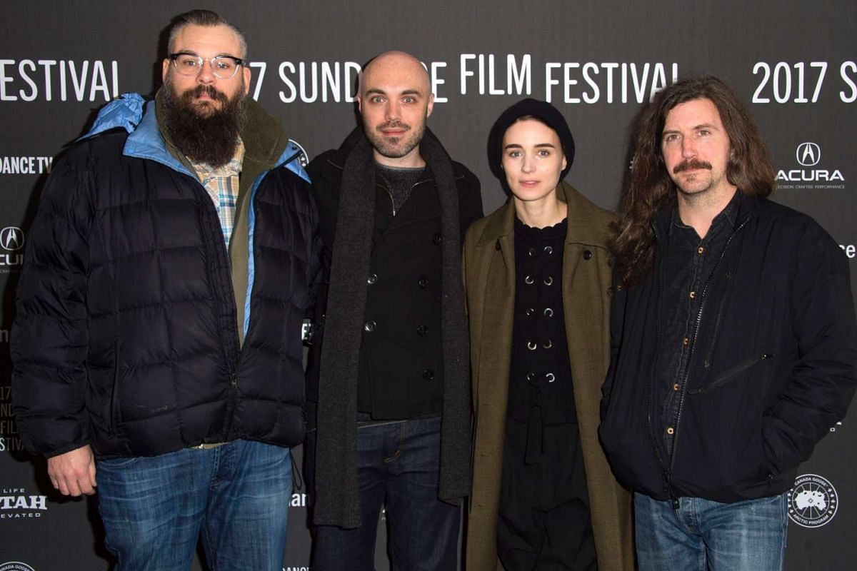Producer David Pink, director David Lowery, actress Rooney Mara and producer Toby Halbrooks attend the A Ghost Story premiere at the Library Center Theatre during the 2017 Sundance Film Festival in Park City, Utah, on Jan 22, 2017.
