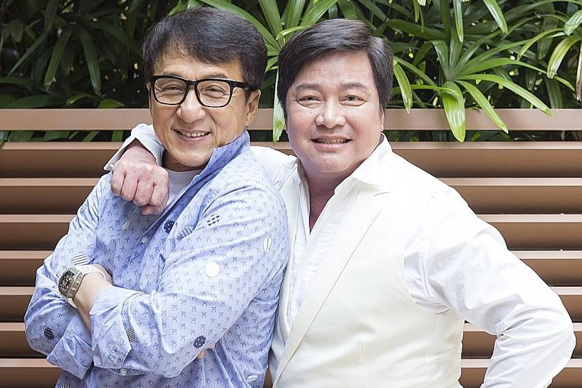 Director Stanley Tong (above right) and Jackie Chan (above left).