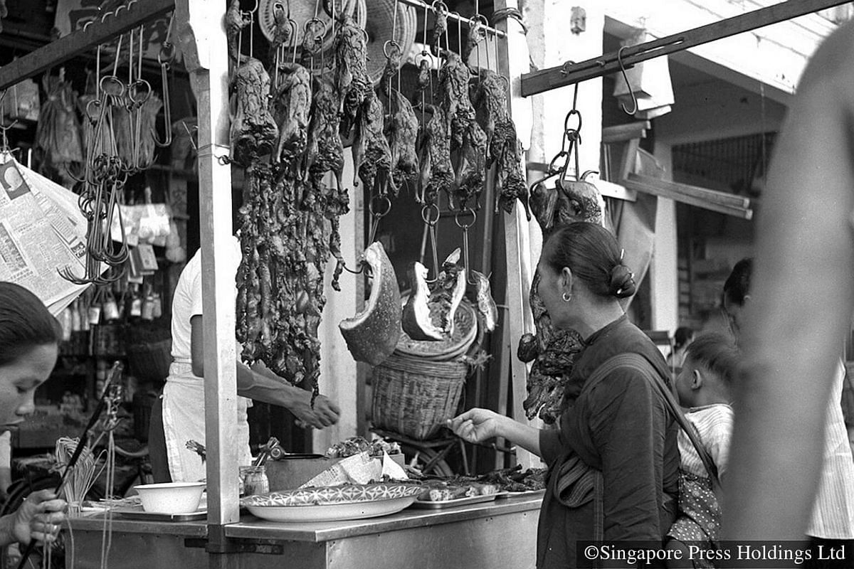 1955: Waxed meat is an important delicacy during Chinese New Year. Wax is the Chinese term referring to the technique of preservation, using oil as the main ingredient. Many people believe that consuming oil and fat at the beginning of the year will