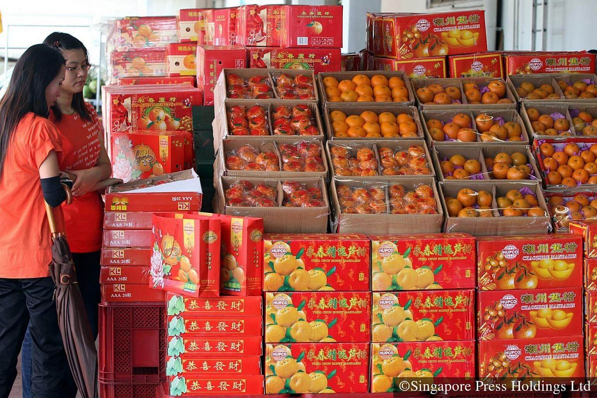 2010: Pasir Panjang Wholesale Centre well stocked with mandarin oranges for Chinese New Year.