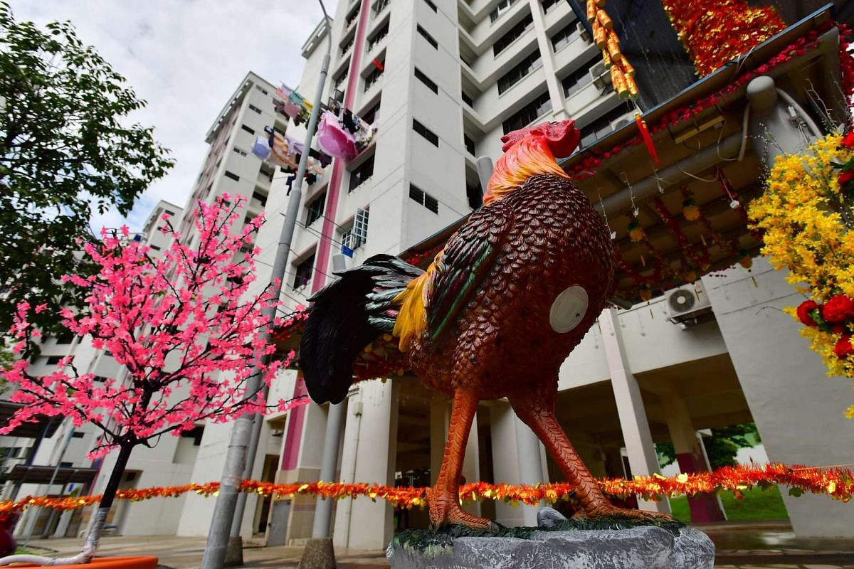 The rooster, which Mr Tan Koon Tat bought from China for Chinese New Year decorations.