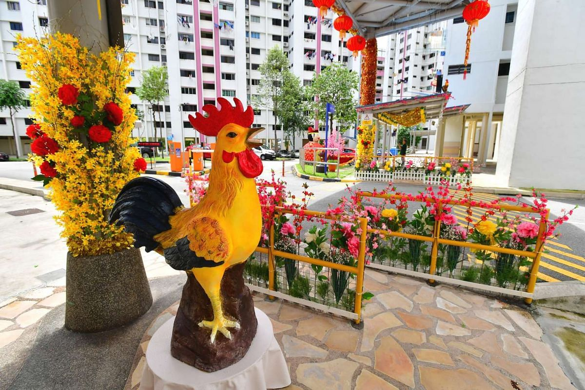 The rooster, which Mr Tan Koon Tat bought from China.