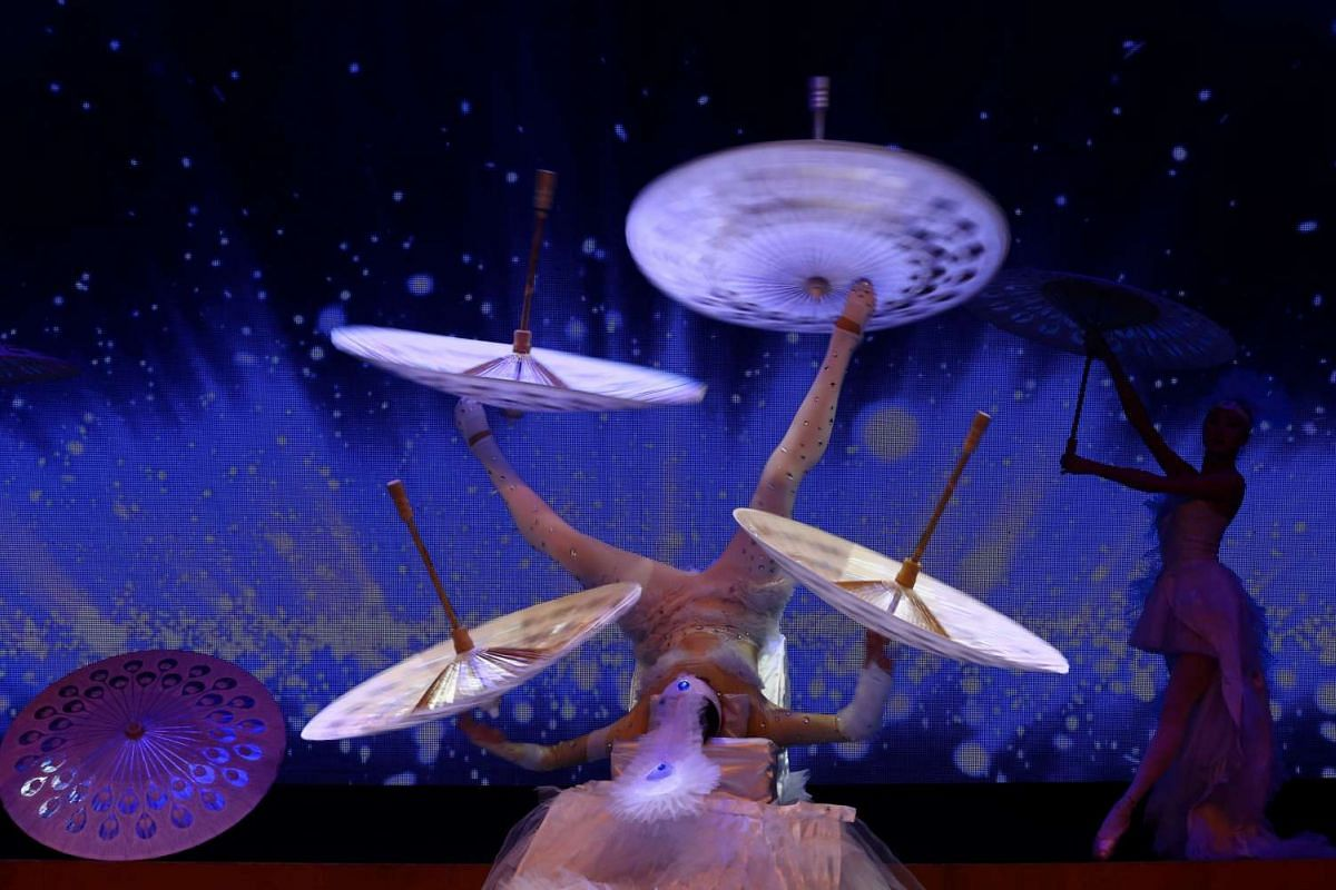 Performers take part in a Chinese New Year celebration at Lisinski hall in Zagreb, Croatia, on Jan 23.