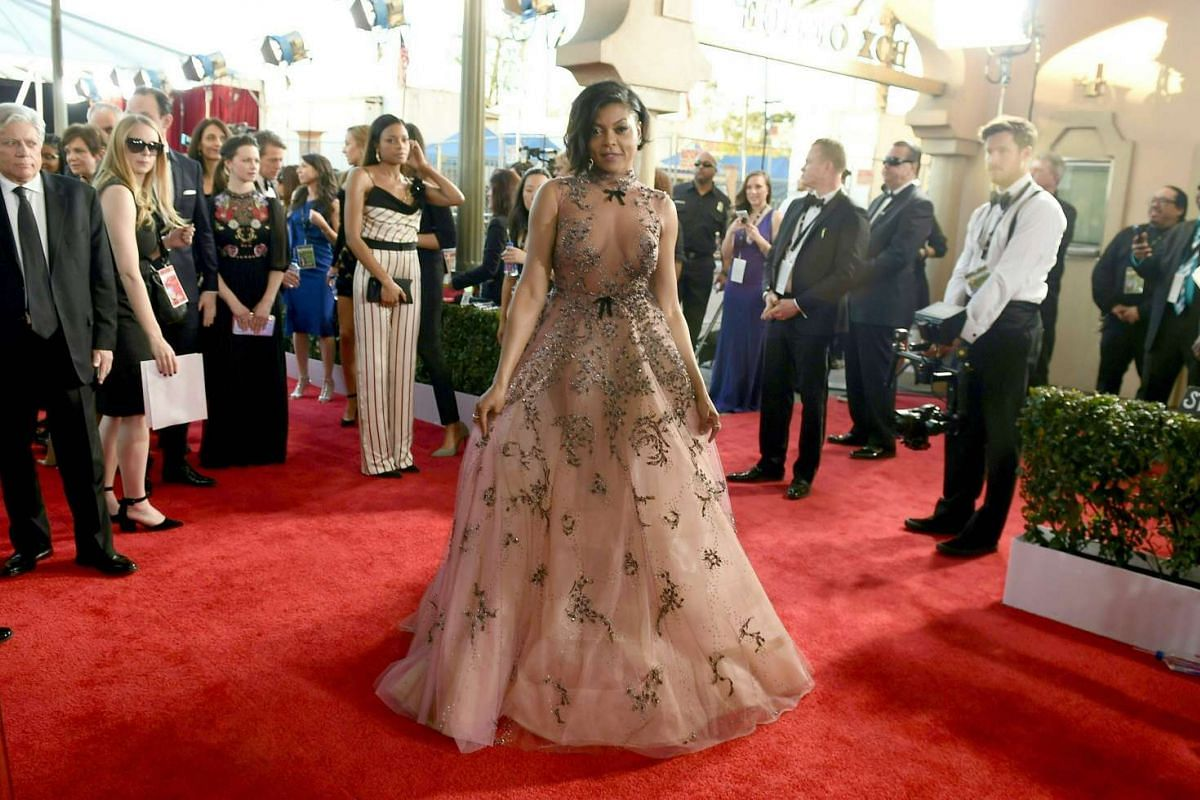 Actress Taraji P. Henson arrives for the 23rd Annual Screen Actors Guild Awards at the Shrine Exposition Center on Jan 29, 2017, in Los Angeles, California.