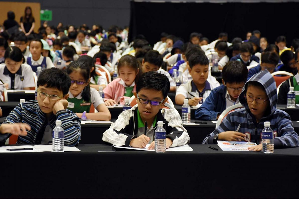 More than 1,800 pupils took part in the first round of RHB-ST National Spelling Championship held at the Suntec Singapore Convention & Exhibition Centre on Mar 26, 2016.