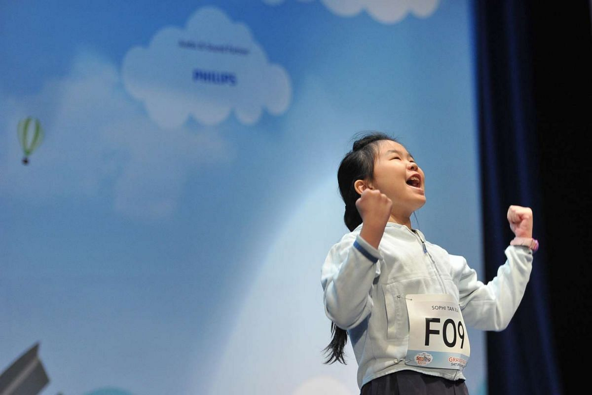 Sophi Tan Xuan, from Raffles Girls' Primary School, is the top speller at the RHB-The Straits Times National Spelling Championship 2016.