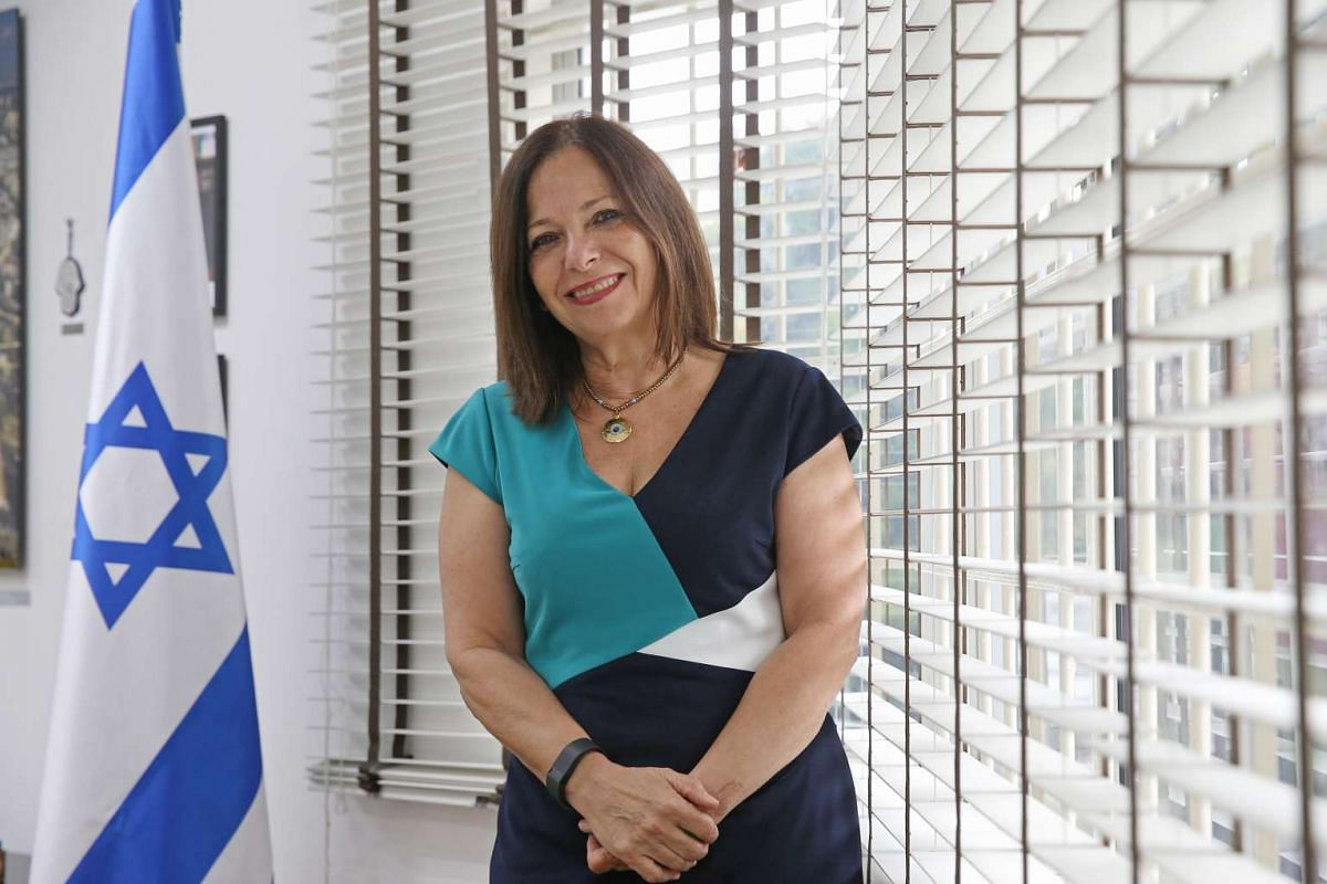 Ms Yael Rubinstein, in her 50s, Ambassador of Israel to Singapore. She and her husband, Professor Dan Sherman, a gynaecologist and obstetrician in his 60s, have lived in Singapore since 2013.