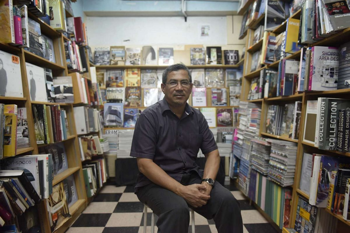 Owner of Basheer Graphic Books, Mr Abdul Nasser, promotes the store's rare books and events on its Facebook page.