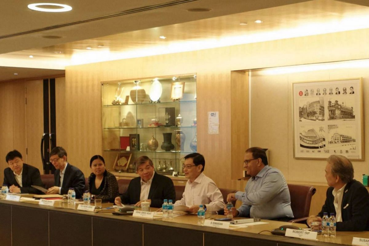 Those at the CFE's fifth and final meeting in December were (from left) Garena founder and chairman Forrest Li, head of civil service Peter Ong, Boston Consulting Group managing director (Singapore) Mariam Jaafar, Singapore Business Federation chai