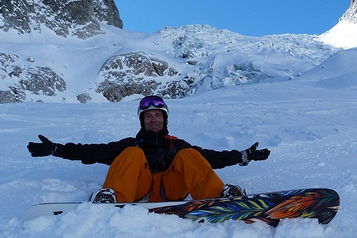 My life so far: Mr Gavin Tollman does his best thinking in snowy regions such as Verbier (above, last year).