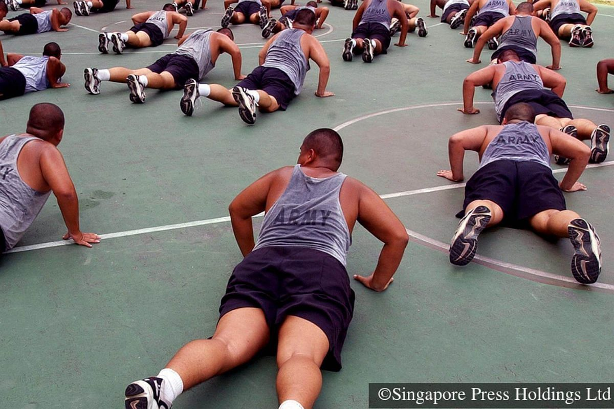 2005: Army recruits who are over-weight undergo intensive training to lose weight and get fit for combat. Their calorie intake is also monitored to ensure they remain healthy despite the tough exercise programme.